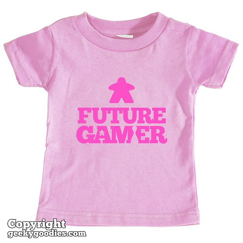Future Gamer Toddler Tee Shirt (Deep Pink Letters)