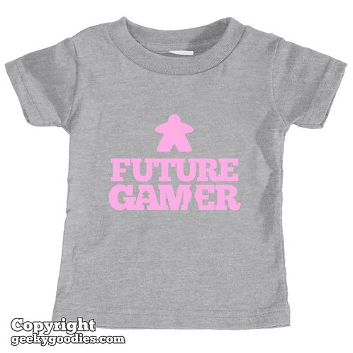 Future Gamer Toddler Tee Shirt (Soft Pink Letters)