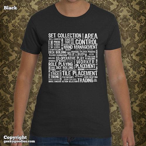 Board Game Mechanics Women's T-shirt