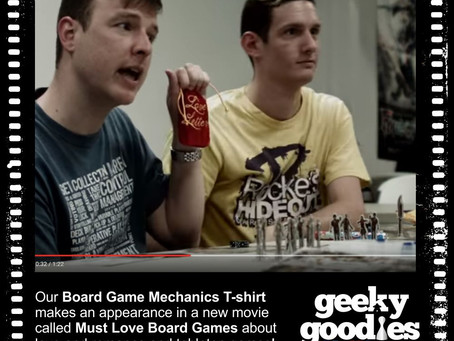 Our T-shirt is in a Movie about Board Games!