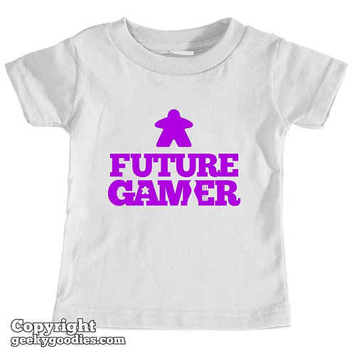 Future Gamer Toddler Tee Shirt (Deep Purple Letters)