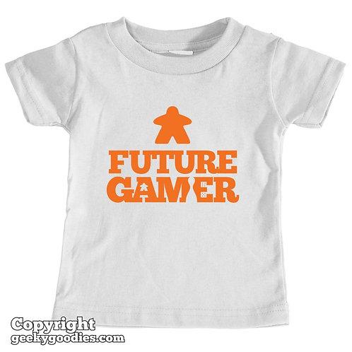 Future Gamer Toddler Tee Shirt (Orange Letters)