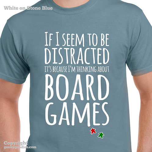 Thinking About Board Games Mens/Unisex Tshirt