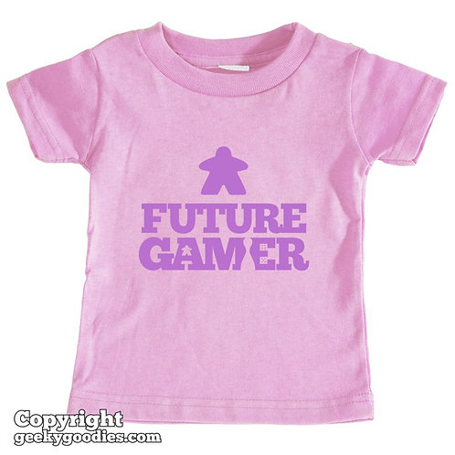 Future Gamer Toddler Tee Shirt (Soft Purple Letters)