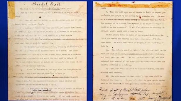 Le tredici regole del basket scritte da James Naismith