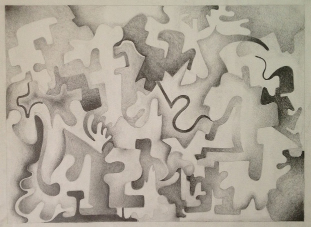untitled. graphite on paper. 18x24.