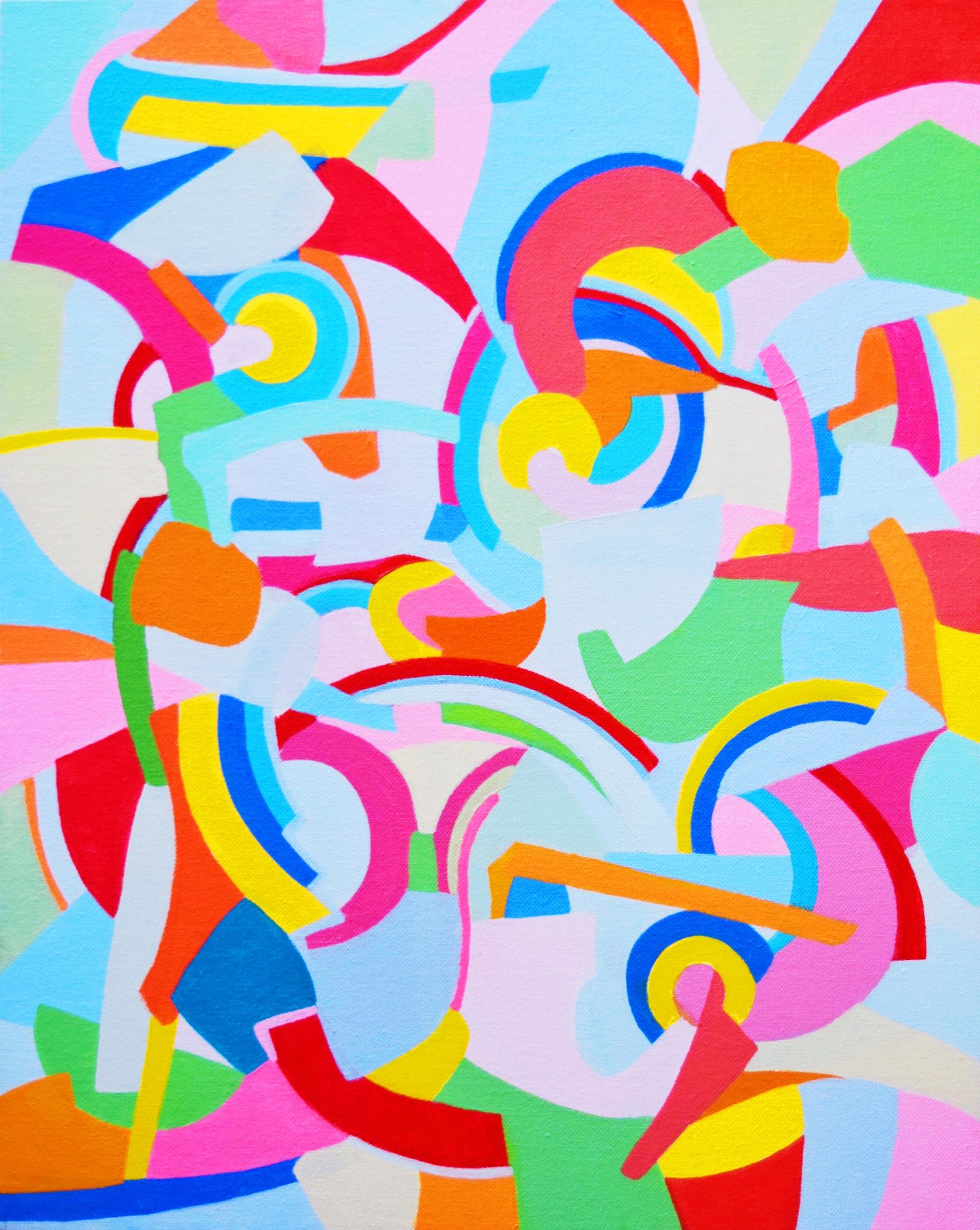 crazy vanilla. acrylic on canvas. 15 1/2x19 1/2.