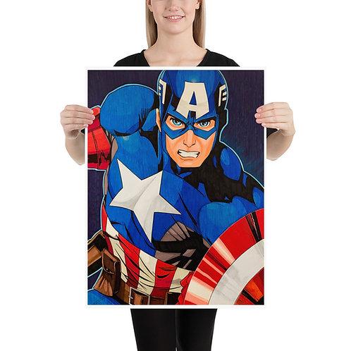 Captain America 18x24 Handmade Poster