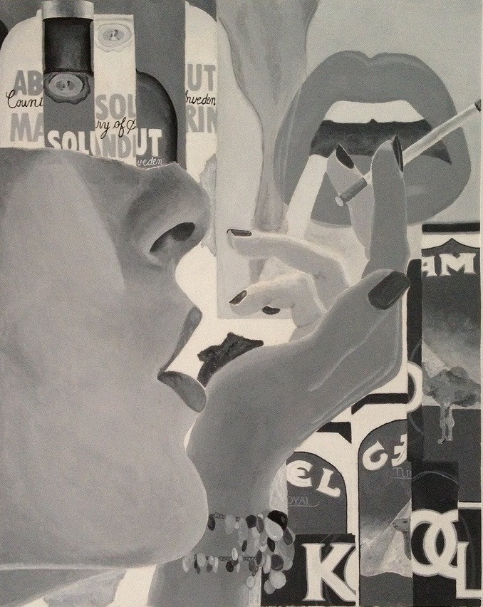absolut kool?. acrylic on bristol board. 18x24.