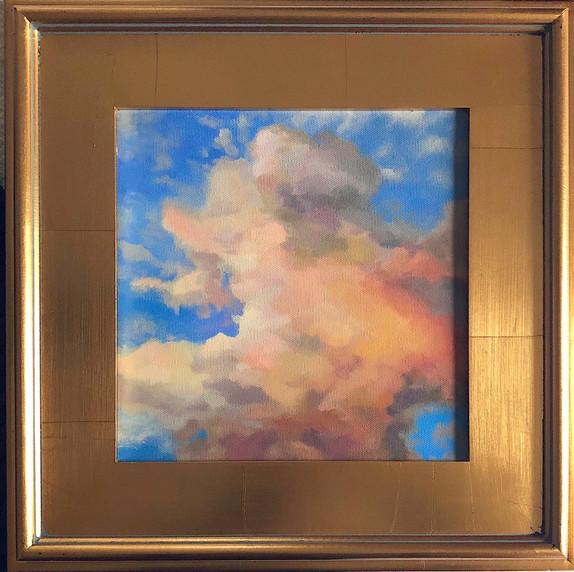 september sunset. acrylic on canvas. 10x10.