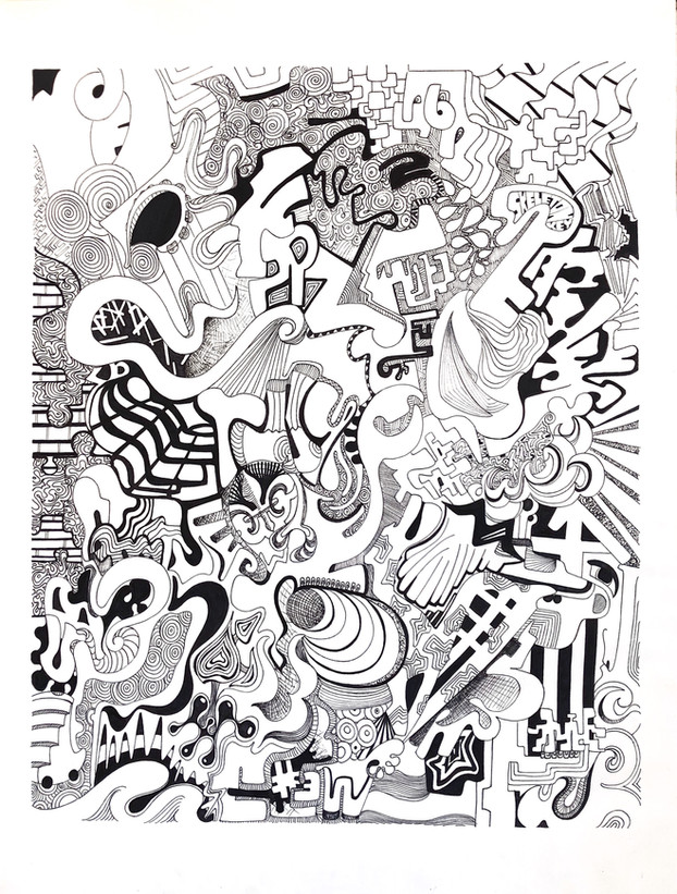 raz. sharpie on bristol board. 16x20.