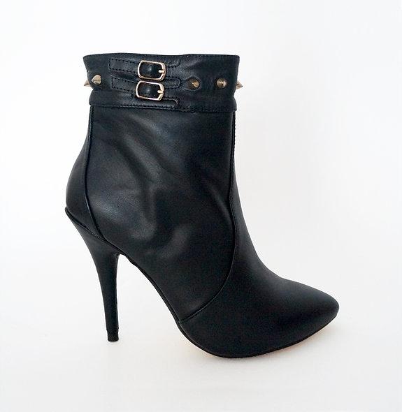 """Lambskin Leather """"Bombshell"""" Stiletto Boots"""
