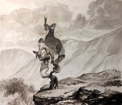 Formation in the Cordillera -sketch