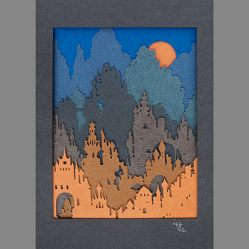 Harvest Moon For the Avalon Hills (Giclee Print)