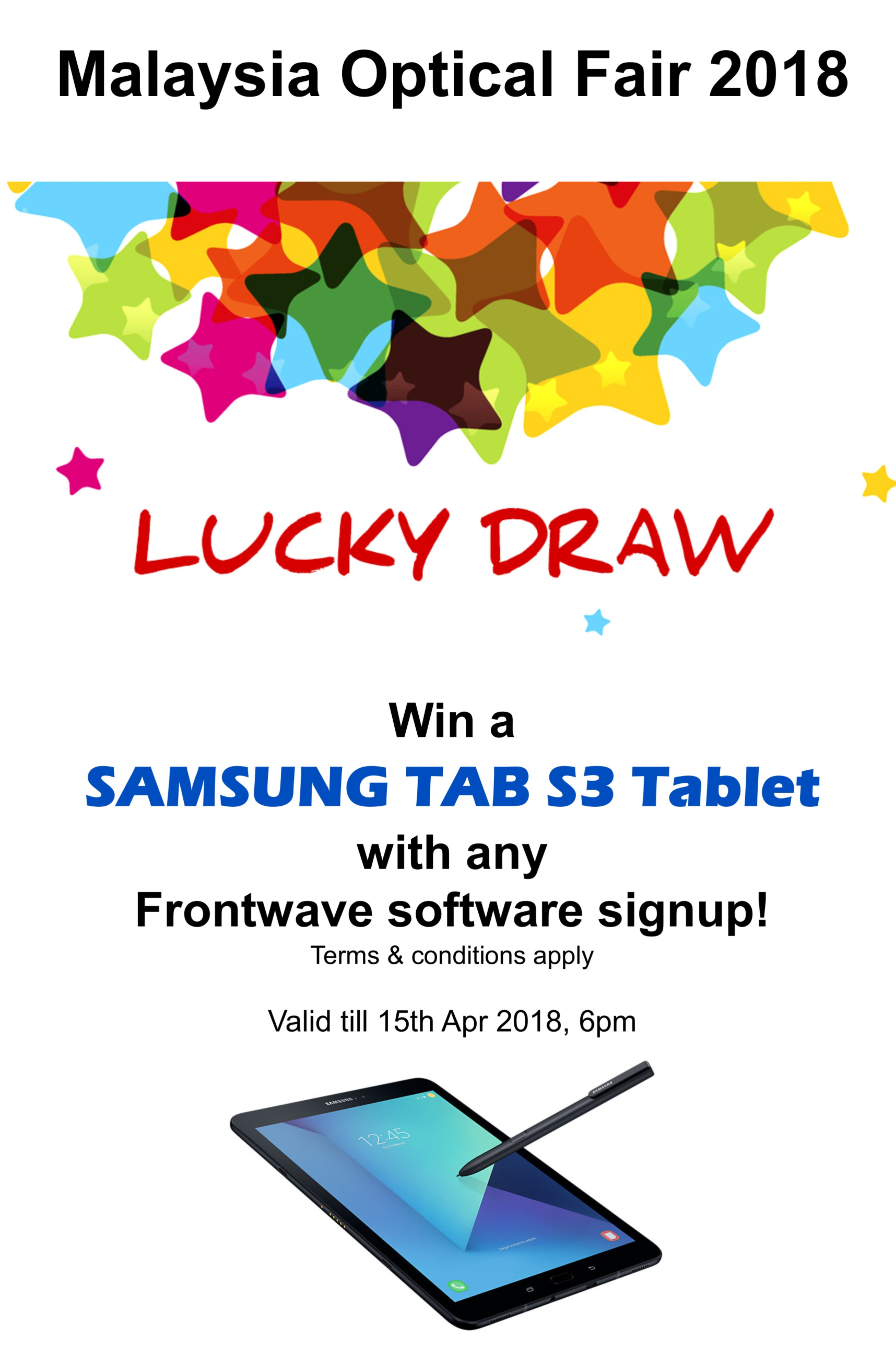 Mof 2018 Lucky Draw Results Optical Retail Software Frontwave