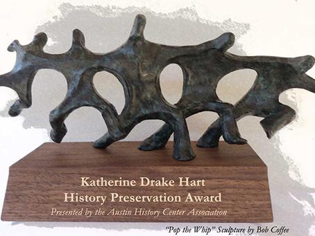 2020 Katherine Drake Hart Award Nominations Closed
