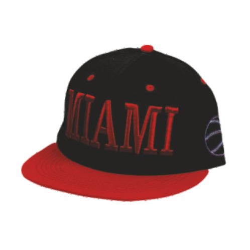 CHB703   Flat Bill Name Drop Hat