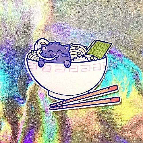 """Ramen Cat - 3"""" Sticker"""