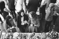 Corporate event group mingles