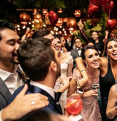 Group of people celebrating at a private party