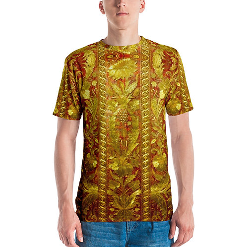 Floral Gold Red Print T-shirt