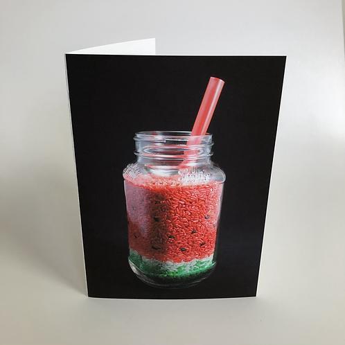 Sandía - Card with Adhesive Strip Envelope