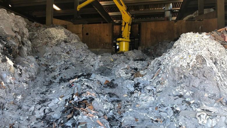 Fábrica da ILSA Fertilizantes com resíduos de couro em Portão (RS) (Foto: Divulgação/ILSA)