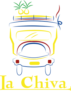 The logo of La Chiva Arepas New Zealand with reference to the videography work completed by Acodata Christchurch during COVID 19