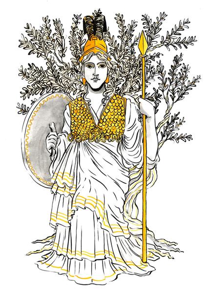 Athéna et l'olivier