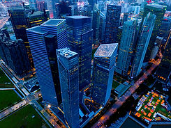 aerial view of singapore down town area