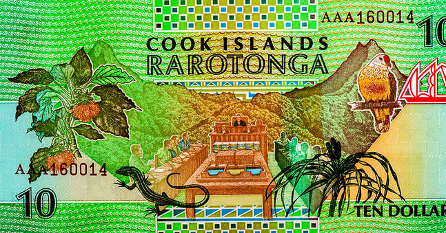 Rarotonga atoll. People gathering. Cook