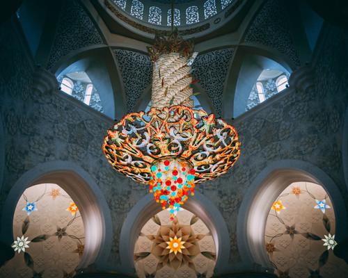 Хрустальная люстра весом 12 тонн Мечеть