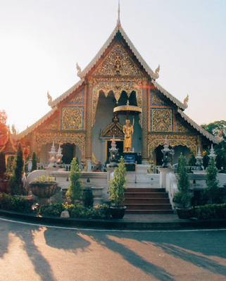 Temple in Chiang Mai, Thailand Чиангмай.