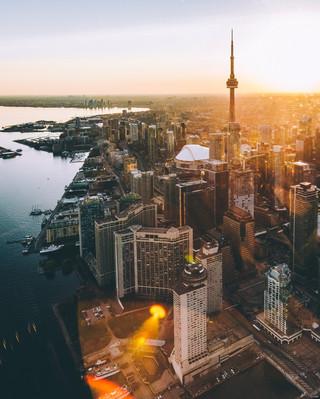 Телевизионная Башня Си-Эн Тауэр Торонто.