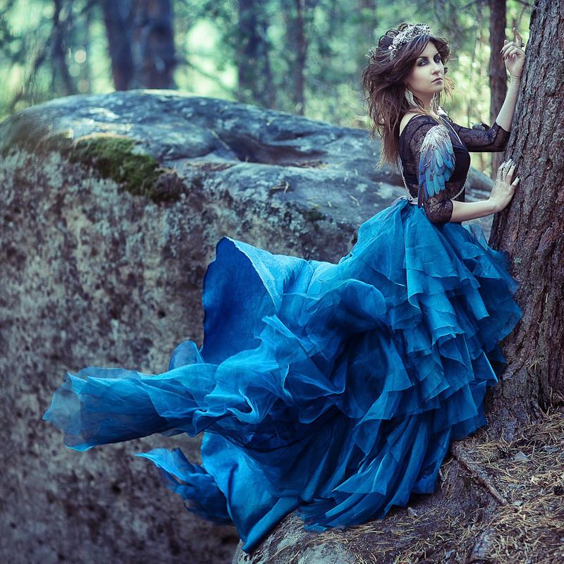Синяя фотосессия