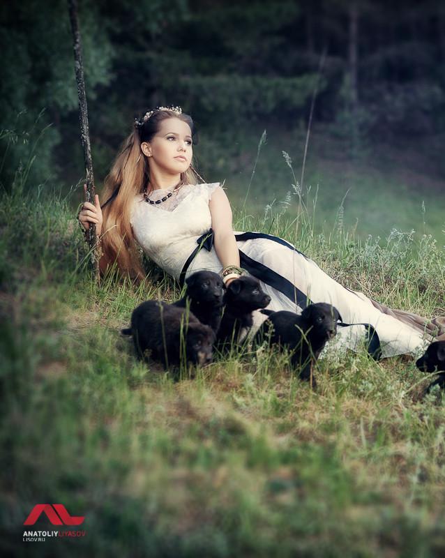 Сказочная фотосессия со щенками