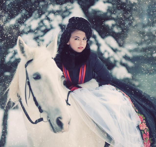 Русская зимняя фотосессия