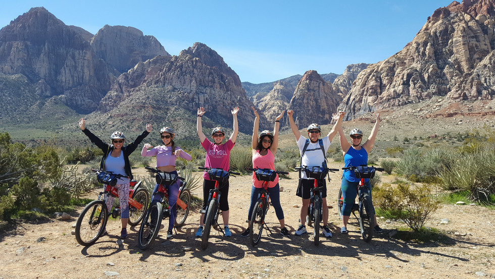 So happy to ride with #redebike #redrockcanyon