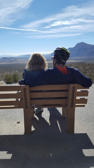a zen moment at Red Rock Canyon