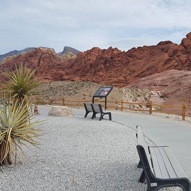 The new parking lot is complete. Great place to admire the Technicolor mountains.jpg