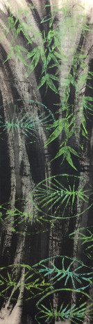 Nymphéas et bambou