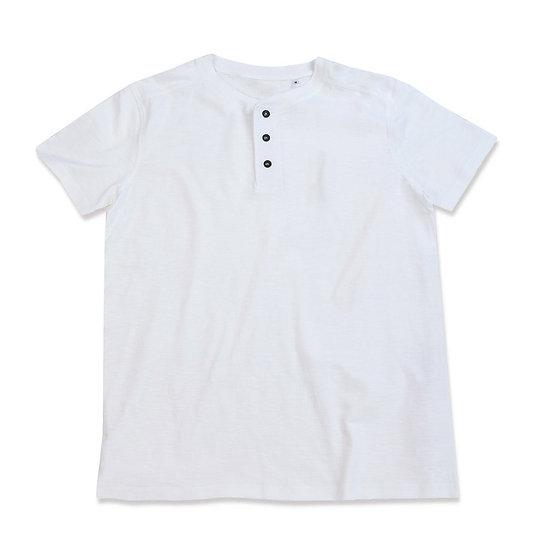 T-shirt Girocollo con bottoni Uomo