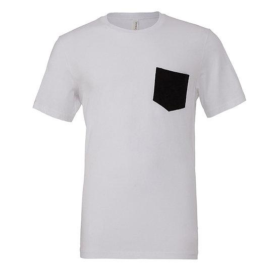 T-shirt jersey short sleeve pocket tee Uomo