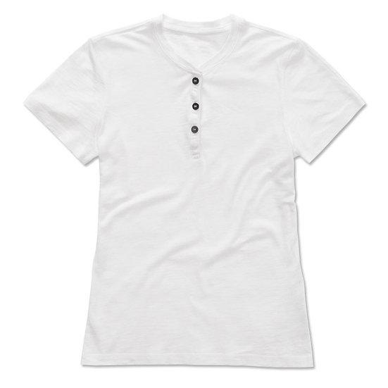 T-shirt Girocollo con bottoni Donna