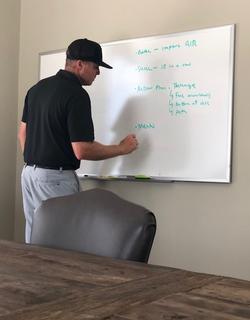 whiteboard upright
