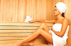 Young woman relaxing in spa.Healthcare a