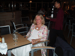 Narelle (Her) on the Lido Deck Holland America - somewhere in the South Pacific