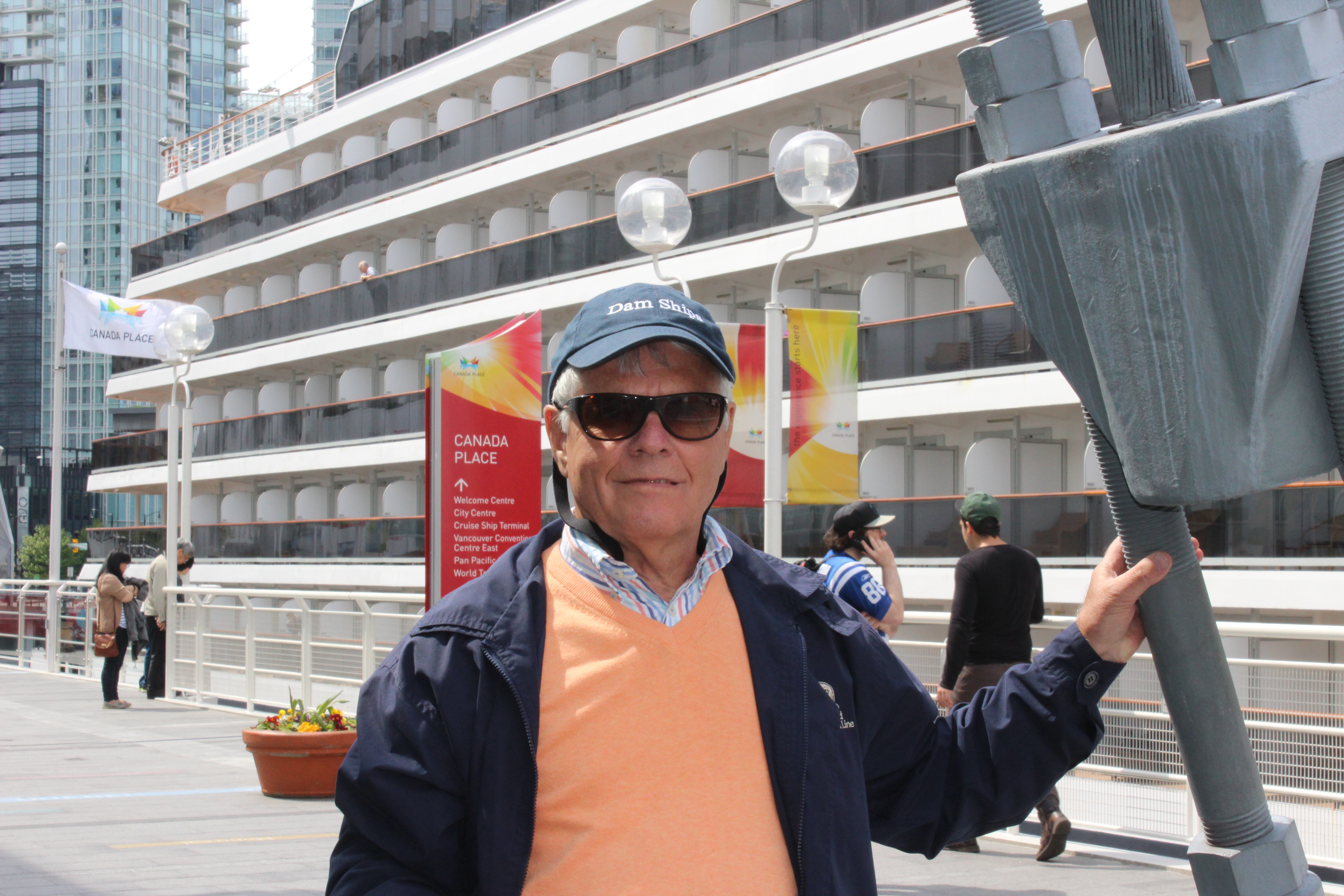 Graham enjoying Holland America Cruising