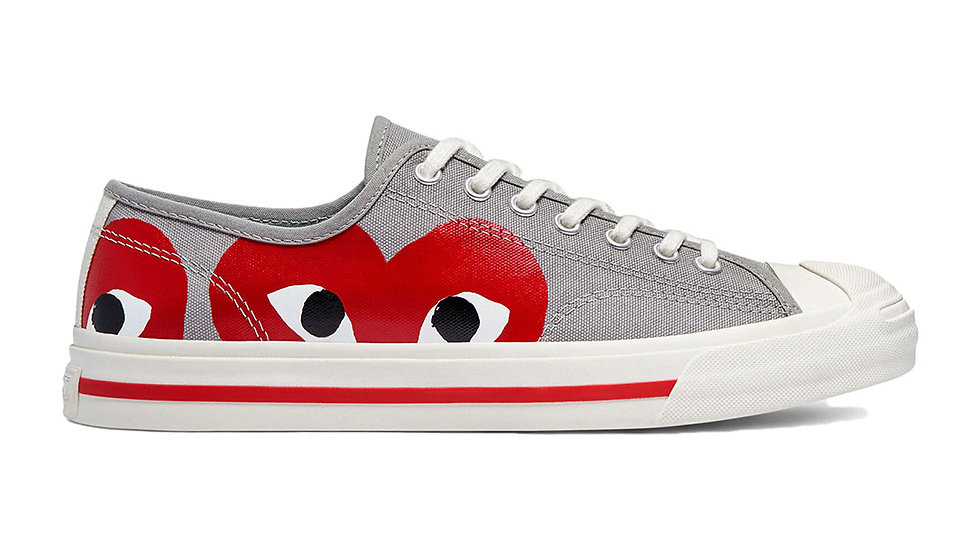 Converse x Comme Des Garcons PLAY Jack Purcell Grey Red