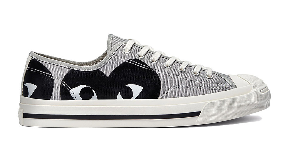Converse x Comme Des Garcons PLAY Jack Purcell Grey Black